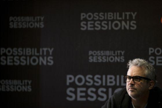 Alfonso Cuarón, em uma coletiva de imprensa na Ciudad de México