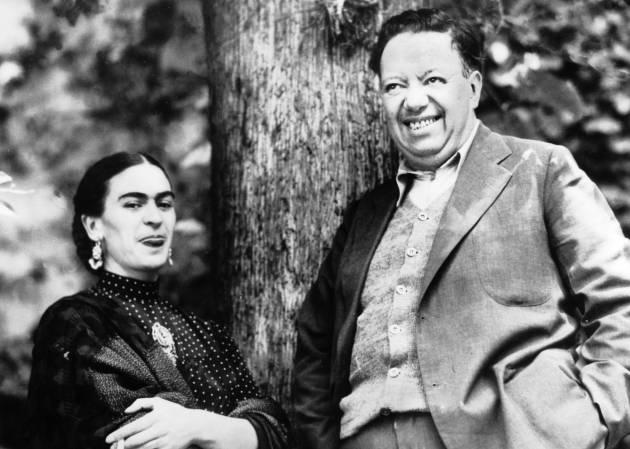 Frida Kahlo e Diego Rivera em 1937.