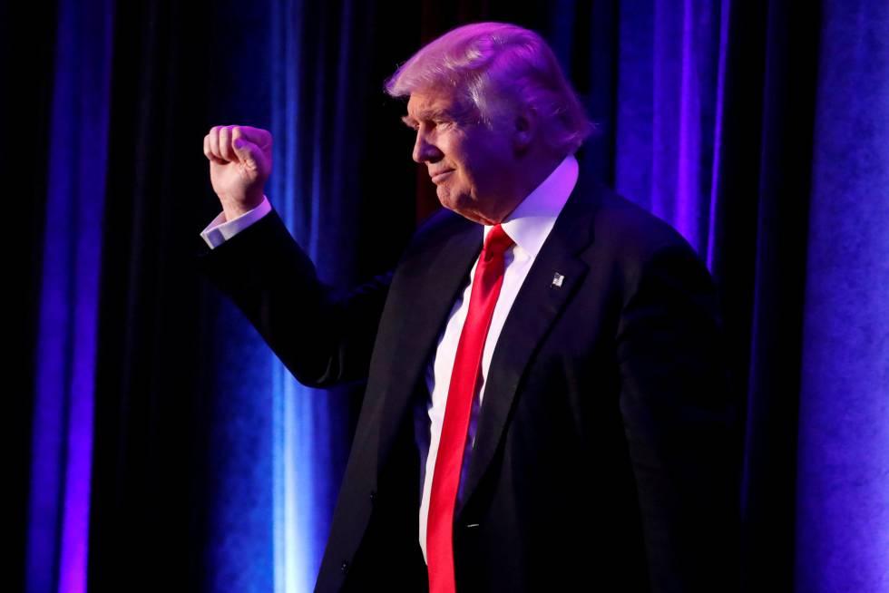 Donald Trump, na noite de sua vitória eleitoral, em Nova York.