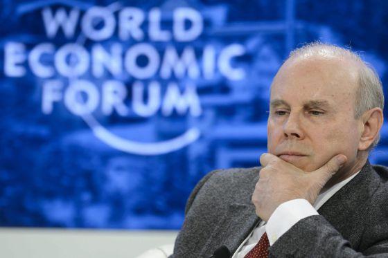 O ministro da Fazenda, Guido Mantega, no Fórum de Davos.