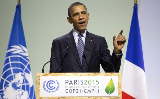 Obama, durante sua intervenção na cimeira do clima.