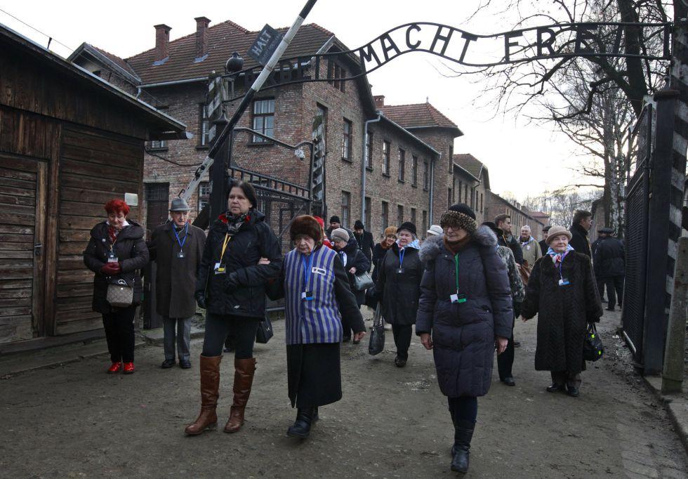 Interior do campo de concentração de Auschwitz em 27 de janeiro de 2016, quando se comemora o 71 aniversário de sua libertação. Ali foram assassinadas mais de um milhão de pessoas.