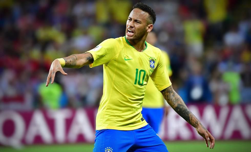 Neymar, durante a partida contra a Bélgica, pelas quartas de final da Copa.