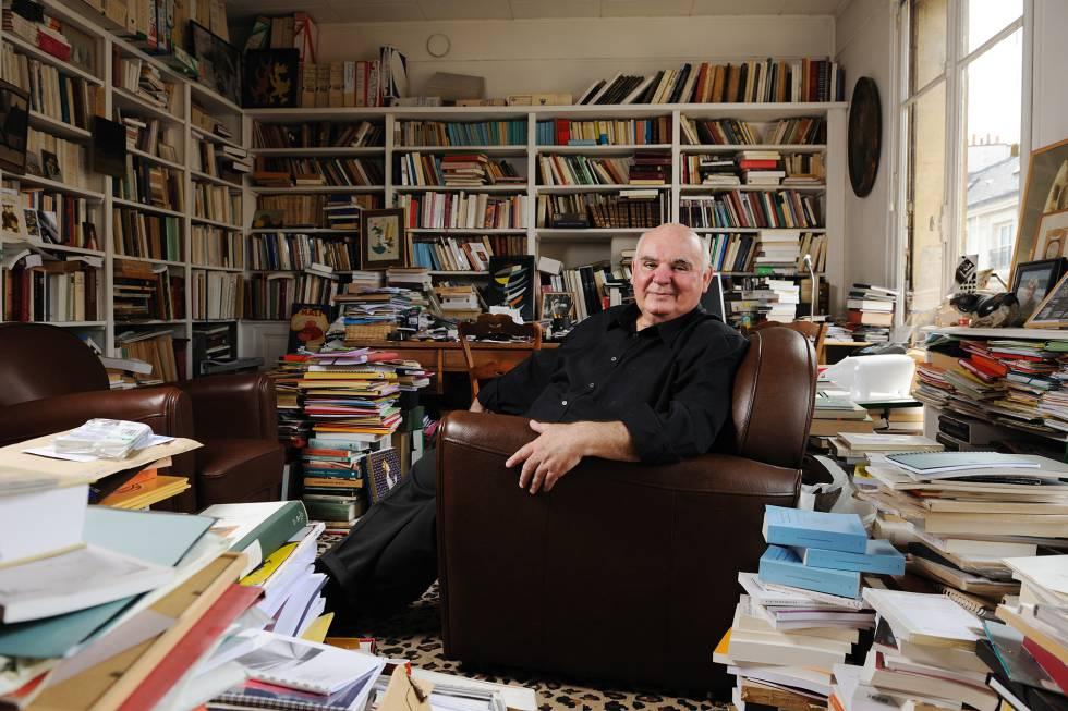 Michel Pastoureau fotografado em sua antiga casa, em Paris