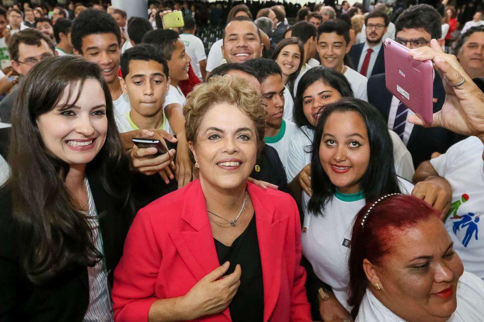 Dilma Rousseff, no Planalto nesta quarta-feira.
