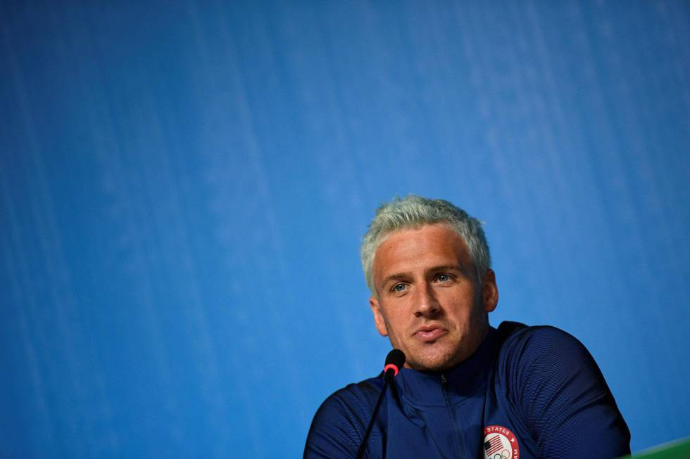 O nadador Ryan Lochte;