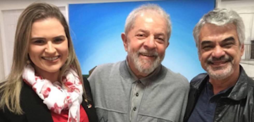 Os petistas Marília Arraes, Lula e Humberto Costa.