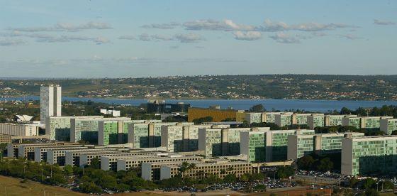 Vista aérea da Esplanada dos Ministérios.