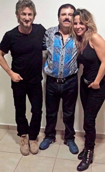 Sean Penn, El Chapo and Kate del Castillo in October 2015
