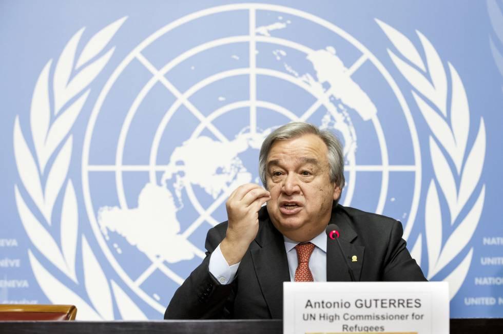 Guterres na ONU em dezembro passado, quando comandava o ACNUR.