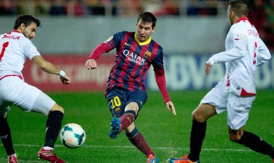 Messi, no terceiro gol do Barça.