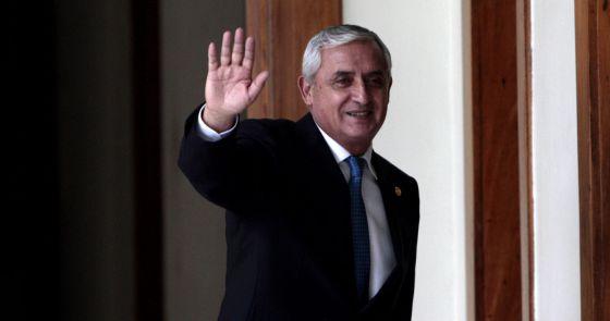 O presidente de Guatemala Otto Pérez.