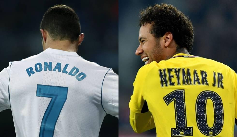 Cristiano Ronaldo e Neymar voltam a duelar na Champions League.