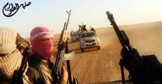 Uma cena da propaganda do EI, feita no Iraque em 8 de junho.