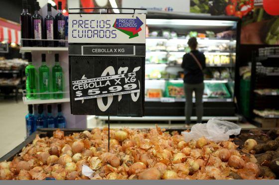 Um supermercado em Buenos Aires.
