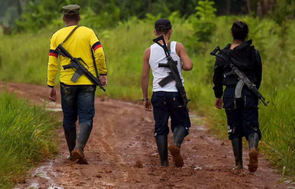 Membros da dissidência das FARC no departamento de Guaviare.