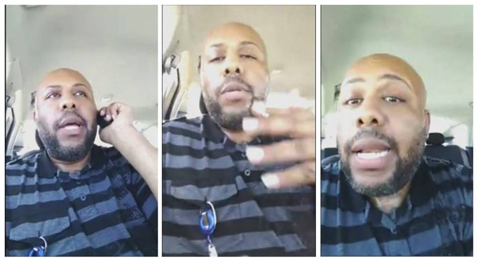 Steve Stephens, o assassino de Cleveland, durante a transmissão do crime ao vivo pelo Facebook.