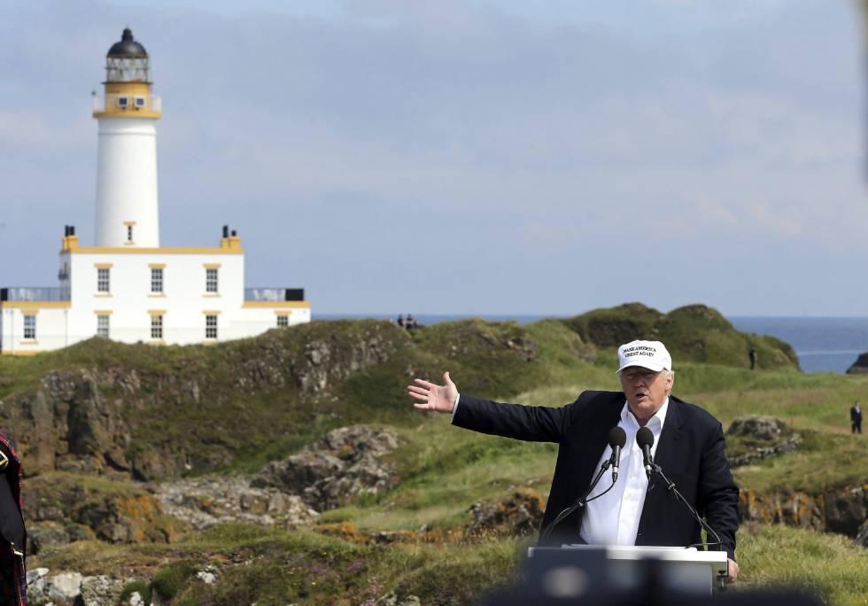 Donald Trump, nesta sexta-feira na Escócia.