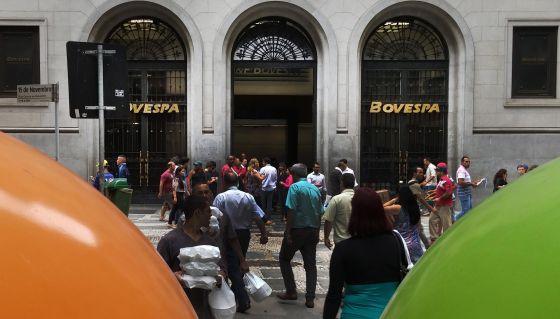 Fachada da Bovespa, em São Paulo.