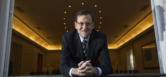O presidente do Governo, Mariano Rajoy, numa sala no Palácio de la Moncloa, sede do governo.