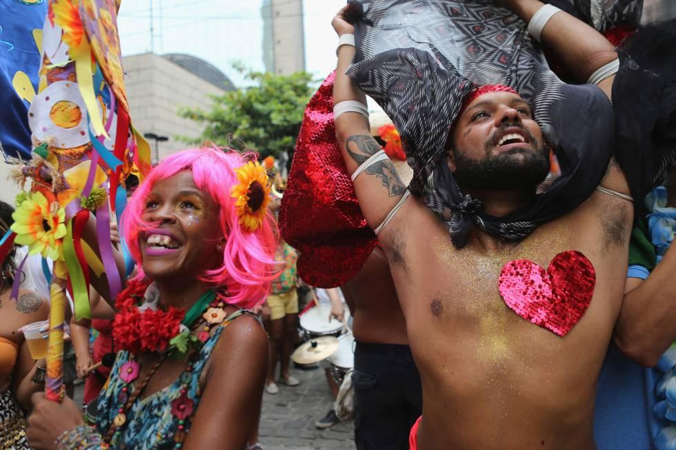 Bloco de rua no Rio no último no dia 3 de janeiro.