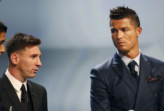 Messi e Cristiano Ronaldo, na festa.