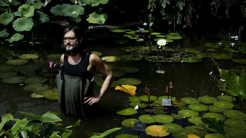 Carlos Magdalena, em Kew Gardens.