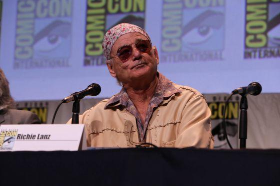 O ator Bill Murray durante a apresentação do filme 'Rock the Kasbah'