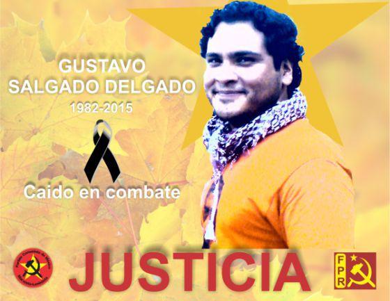 Foto do líder social assassinado no México.