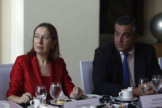 Ana Pastor, hoje com o presidente de Panam?.