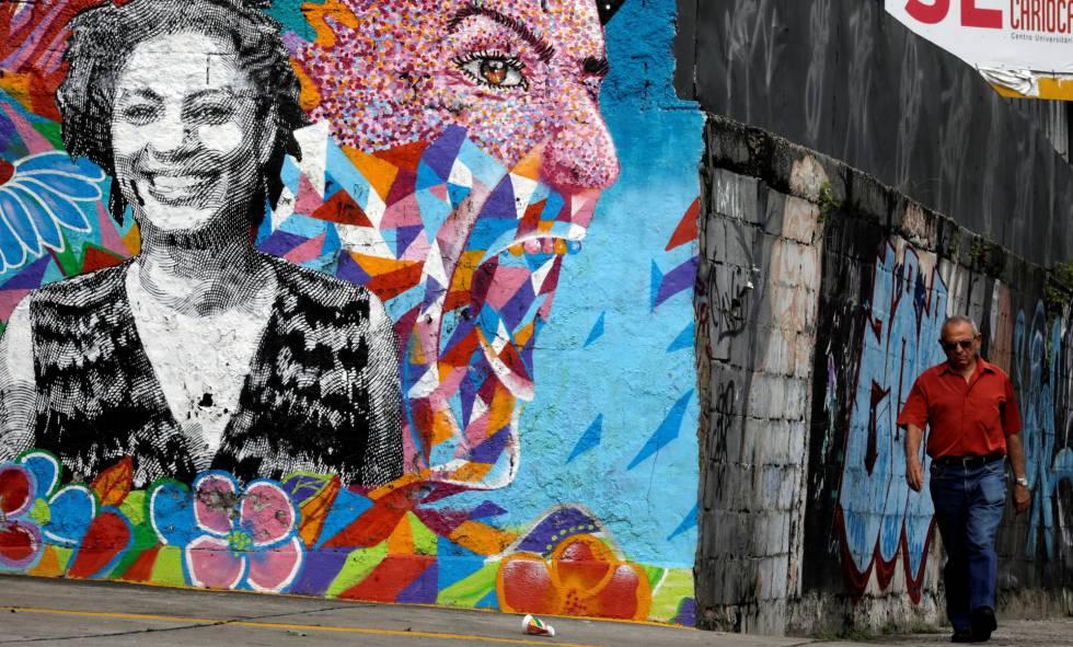 Mural com Marielle no Rio.