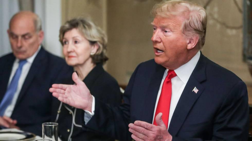 Trump em reunião com o secretário-geral da OTAN, Jens Stoltenberg, nesta quarta-feira em Bruxelas