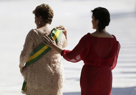 Dilma Rousseff e sua filha Paula.