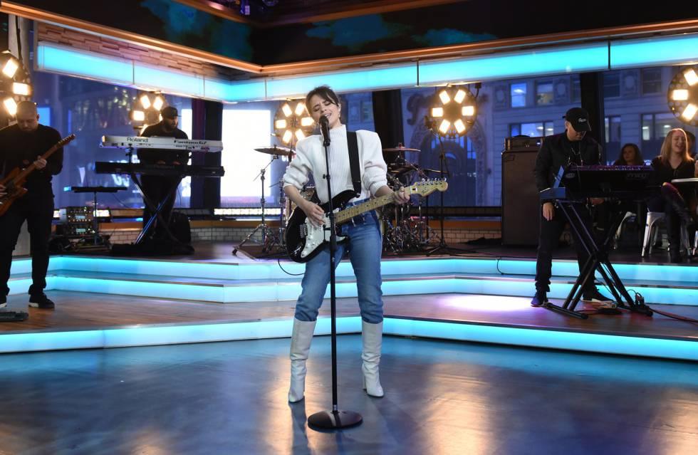 A cantora Camila Cabello em 12 de janeiro, em um programa da ABC.