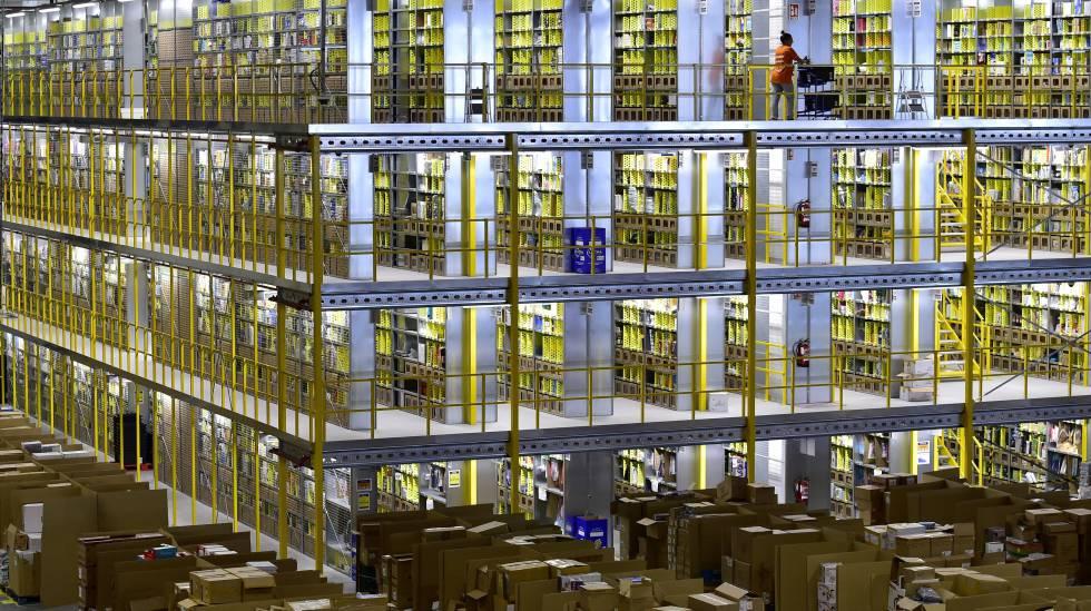 Centro logístico da Amazon em San Fernando de Henares (Madri)