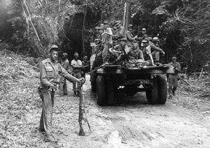 Militares participam da segunda campanha na região do Araguaia, realizada pelo Exército em 1972.