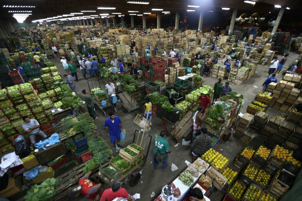 Mercado Ceasa, no Rio de Janeiro (Brasil).