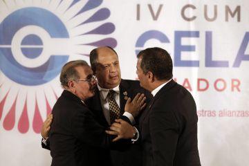 Danilo Medina, Luis Guillermo Solís e Rafael Correa.