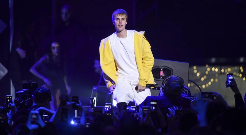 Justin Bieber durante show em Nova York neste mês.