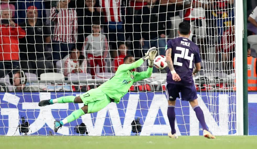 Khalid Essa defendeu o último pênalti do River, batido por Enzo Pérez.