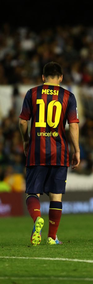 Messi, durante a partida.