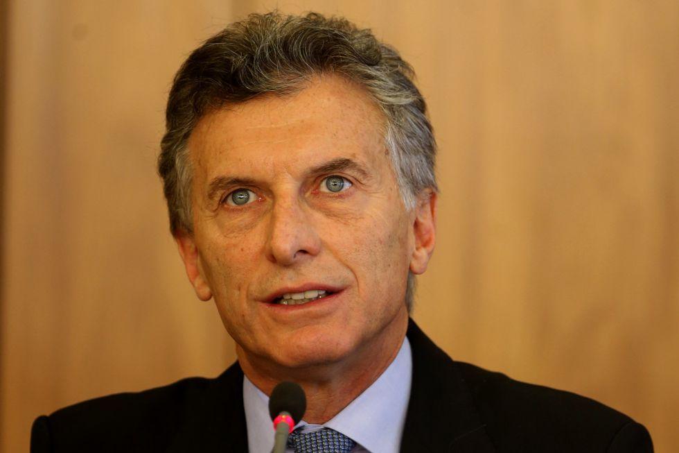 O presidente da Argentina, Mauricio Macri.