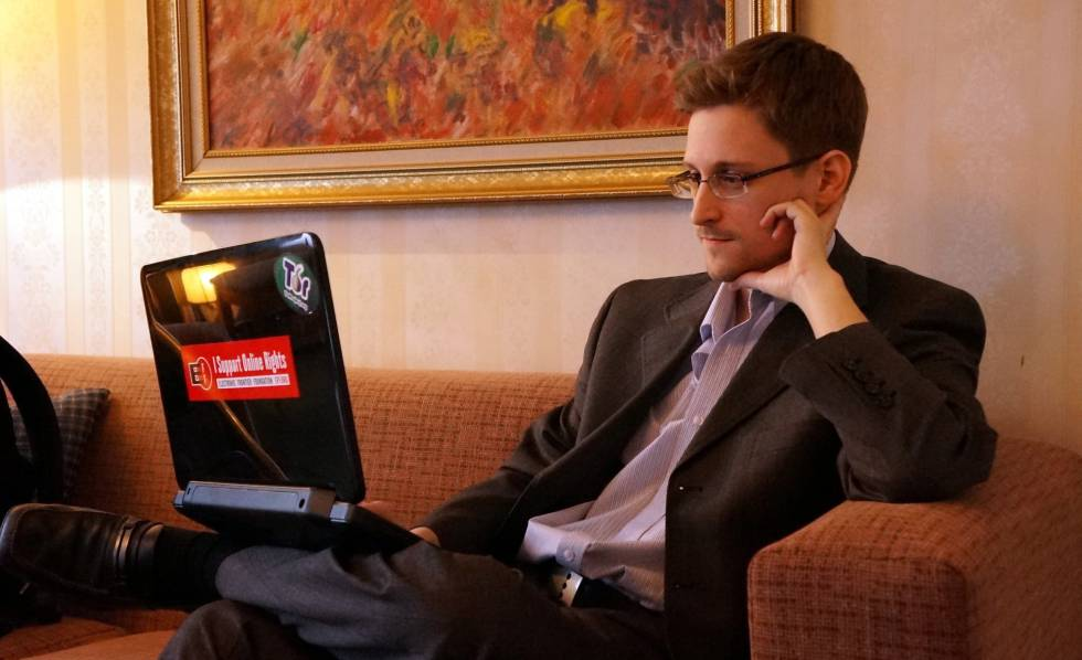 Edward Snowden, durante uma entrevista em Moscou em 2013.