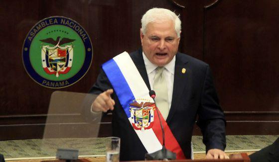 O presidente do Panamá, Ricardo Martinelli.
