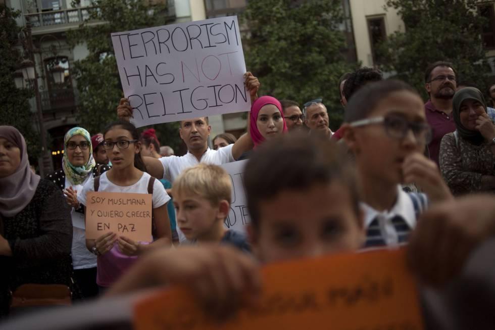 Protesto de muçulmanos em Granada