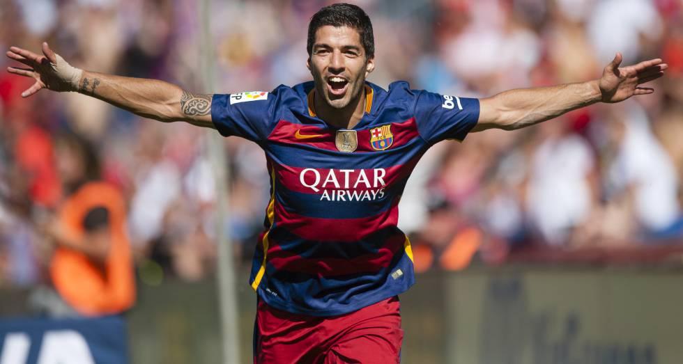 Suárez, artilheiro do campeonato espanhol.