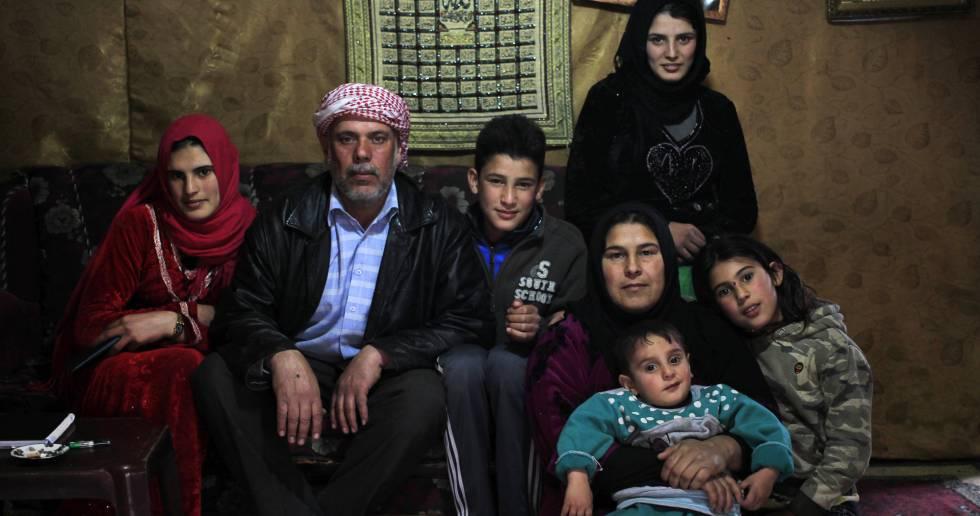 A família de Kafaa e Mousa Ibrahim.