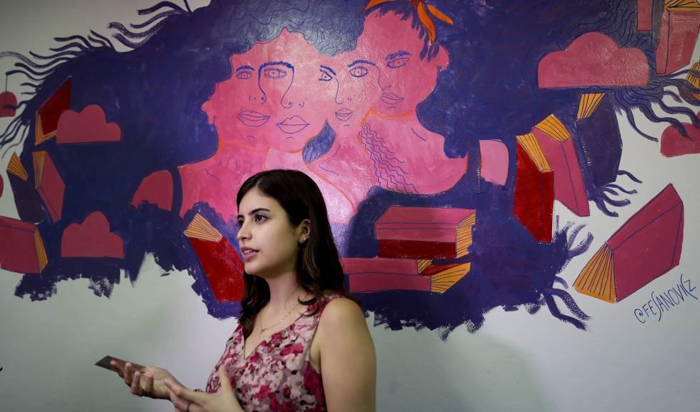 A deputada brasileira Tabata Amaral, em São Paulo