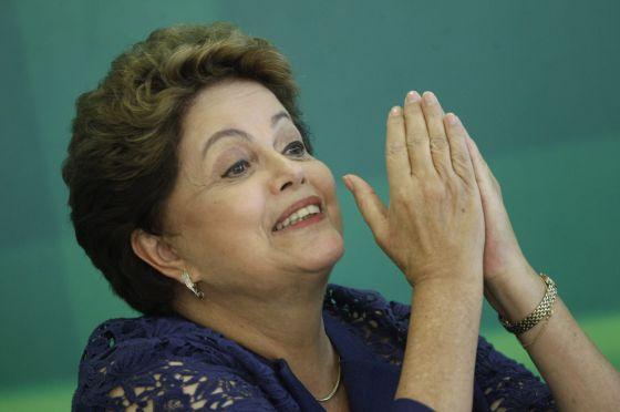 Dilma Rousseff, nesta segunda-feira em Brasília.