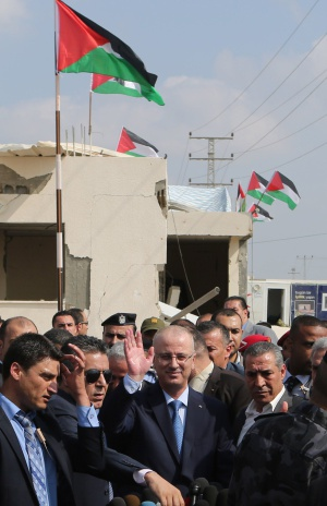 Rami Hamdallah, em Gaza.